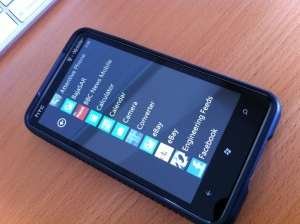 Windows Mobile 7 - Apps screen